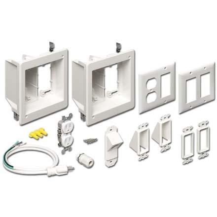 Flat Screen TV Bridge Kit 2 Recessed Power/Low Voltage TVBR2505K