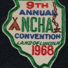 Vintage 1968 NCHA 9th Annual Convention Land of Lincoln Patch