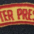 Vintage Chapter President Sleeve Shoulder Patch