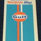 1971 71 Gulf Oil Illinois & Indiana Tourguide Road Transportation Map - Retro