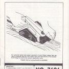 1985 Black & Decker Owner's Manual Instruction Guide for Planer No. 7696