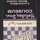 Retro Barney Google's Emporium Holiday Inn Coliseum Purple Checker New Matchbook