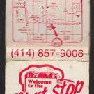 Retro Famous Brat Stop Cheese Market Kenosha Wisconsin Matchbook Cover Mug Beer