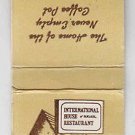 Retro IHOP International House of Pancakes Restaurant Matchbook Matchcover