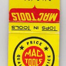 Retro Mac Tools Tops In Tools Bob's Tool Sales Lindenhurst Illinois Matchbook