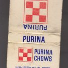 Retro Purina Chow Chows Hintzsche Feed & Grain Maple Park Illinois Dog Matchbook