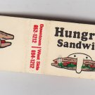 Retro Rare Hungry Head Sandwich Shop Kenosha Wisconsin * FEATURE * Matchbook New