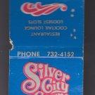 Retro Silver City Casino Las Vegas Nevada Matchbook Match Cover Matches