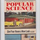 """Vintage Fall 1955 Monthly Popular Science """"Give Your Home A New Look"""" Pristine"""