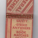 Vintage Federal Match Matches Advertising Book Matches Safety Strike Matchbook