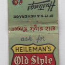 Vintage Heileman's Old Style Lager Beer Hustings Brewing Wisconsin Matchbook