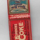 Vintage Koppers Coke Chicago Royal Blue Stores Coffee Matchbook Match Cover