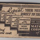 Vintage Match Corporation of America Advertisement Matchbook