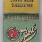 Vintage Milwaukee's Best Beer A. Gettelman Brewing Co. Barn Dance WI Matchbook