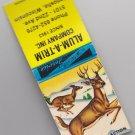 Vintage Retro Alum-A-Trim Company Kenosha Wisconsin Deer Bucks Graphic Matchbook
