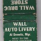 Vintage Retro Wall Drug Store South Dakota Ted & Bill Hustead Matchbook