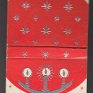 Vintage Season's Greetings Raised Candles Snowflakes Christmas Holiday Matchbook