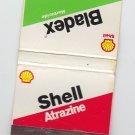 Vintage Shell Gas Gasoline Bladex Atrazine Logo Matchbook Matchcover Match