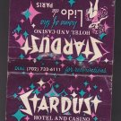 Vintage Stardust Hotel Casino Las Vegas Nevada Home of Lido de Paris Matchbook