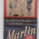 Vintage The Marlin Firearms Co. Company Double Edge Blades Ad Matchbook cover