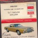Vtg Chrysler Cordoba Dodge Haffner Motors New Hamburg Automobile Matchbook Rare