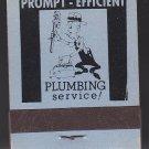 Vtg Harold E Senft Senft's Plumbing & Heating Plumber Character Design Matchbook
