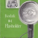 Vtg Kodak B-C Flasholder Flash Holder Manual Instruction Book Lumaclad Refllecto