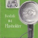 Vtg Kodak B-C Flasholder Flash Holder Manual Instruction Book Lumaclad Refllecto