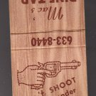 Vtg Mac's Pine Tap Don't Shoot The Bartender Handgun Gun Scene Design Matchbook