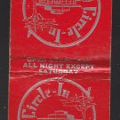 Vtg Retro Circle-In Home of the Original Circle Dog Racine Wisconsin Matchbook