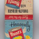 Vtg Retro Hunts Heavenly Peaches Tomato-Burger Tomato Sauce Recipe Matchbook New