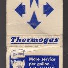 Vtg Retro Thermogas Mapco Bulk Bottled Gas Hopcaid Equipment Matchbook
