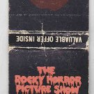 Retro 1975 The Rocky Horror Picture Show Promo Promotional Lips Matchbook