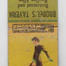 Vintage Pinup Pin-up Girl Walking Dog Brodel's Tavern Union Bar Racine Matchbook
