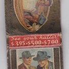Vintage Rare Portis All American Styles Hat Maker Hatter Company Matchbook