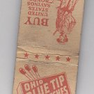 Vintage WWII Buy Bonds and Stamps Ohio Blue Tip Matches Patriotic Rare Matchbook