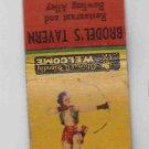 Vintage Retro Pinup Girl Bow & Arrow Brodel's Tavern Racine Wisconsin Matchbook