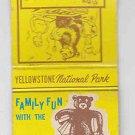 Vintage Yellowstone National Park Company Family Fun Bear Cartoon Matchbook