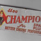 Vintage Retro Champion Spark Plus Better Engine Performance Very Good+ Matchbook