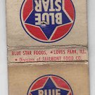 Vintage  Blue Star Foods Ripples Potato Chips Fairmont Food Co. IL Matchbook