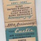 Vintage Retro Curtis Manufacturing Co Refrigeration St Louis Missouri Matchbook