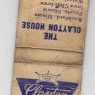 Vintage Retro Clayton House Motel Racine Wisconsin Matchbook Matchcover Matches