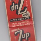 "Vintage Drink 7UP 7 UP ""You Like It"" ""It Likes You"" Soft Drink Retro Matchbook"