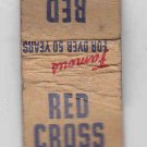 Vintage Red Cross Cough Drops 5 cents Ten-Strike Slim Matchbook Matches cover