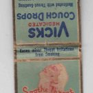 Vintage Retro Vicks Medicated Cough Drops Vaporub Soothe Throat Matchbook Cover