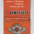 Vintage Retro Bruko Products Bruce Products Michigan metal working Matchbook