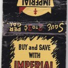 Vtg Imperial Refineries Gasolines Fuel Gas Midwest Florida Matchbook Cover