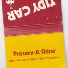 Retro Tidy Car Auto Appearance Preserv-A-Shine Advertisement Matchbook Cover