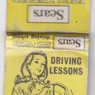 Vtg Sears Store Driving School Lessons Chicago Female Driver Graphic Matchbook