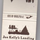 Retro Joe Kelly's Landing Woodruff WI Camping Forest Style Design Matchbook
